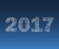 Happy New Year 2017 starburst. Christmas vector illustration Royalty Free Stock Images