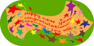Happy new year !!! 2018 stars. Postcard happy new year!!! stars, with a place for writing your greetings. vector stock illustration