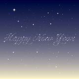 Happy new year  from stars Stock Image