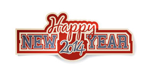 Happy 2014 New Year. Sticker Royalty Free Stock Photography