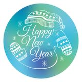 Happy new year sticker or banner. Vector illustration. Happy new year sticker or banner vector illustration