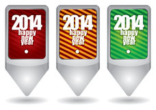2014 - Happy New Year Royalty Free Stock Images