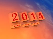 2014 Happy New Year Stock Photos