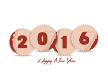 Happy new year 2016 with stickers retro.  Royalty Free Stock Photos