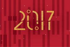 Happy New Year 2017 stipple dots abstract background Stock Photography