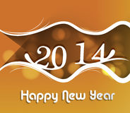 Happy New Year stylish 2014 beautiful celebration. Colorful background Royalty Free Illustration
