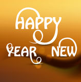 Happy new Year stylish beautiful text design Royalty Free Stock Image