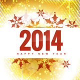 Happy new year. Stylish 2014 happy new year design illustration Royalty Free Stock Images