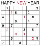 Happy new year sudoku Stock Photo