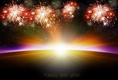 Happy New Year sunrise Stock Photography