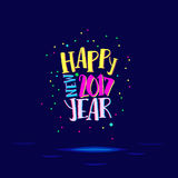 Happy new year with super bright colors Stock Photos