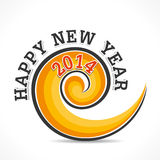 Happy new year 2014. Swirl design background Stock Image