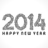 Happy new year 2014. Swirl pattern background Royalty Free Stock Photo