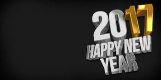 2017 happy new year. 2017 sylvester 3d. Render Stock Image