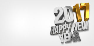 2017 happy new year. 2017 sylvester 3d. Render Royalty Free Stock Photography