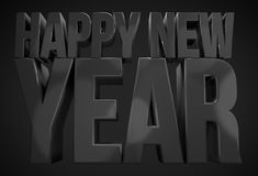 Happy new year. sylvester new years 3d render. Design illustration royalty free illustration