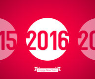 Happy New Year 2016 symbol. Calendar design typography vector illustration Royalty Free Stock Photography