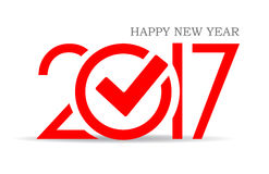 Happy new year 2017. Symbol with check mark Stock Photo