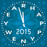 vector happy new year symbol of clock or watch Stock Images