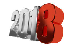 2018 happy new year symbol 3d Royalty Free Stock Photo