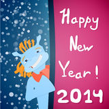 Happy new year 2014! Royalty Free Stock Photography