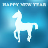 Happy new year 2014!. Symbol of 2014, greeting card Vector Illustration