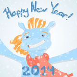 Happy new year 2014! Royalty Free Stock Photo