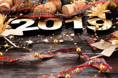 Happy New Year 2019 royalty free stock photography