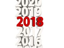 2018 Happy New Year symbol with other years. 3D illustration Royalty Free Stock Image