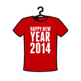 Happy new year 2014. T-shirt Stock Image