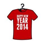 Happy new year 2014. T-shirt royalty free illustration