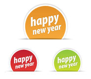 Happy new year tag. Different colored tags are used Royalty Free Stock Image