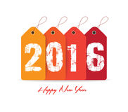 Happy new year 2016 with tag.  Royalty Free Stock Images