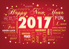 Happy New year 2017  , tag cloud Stock Photo