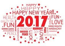Happy New year 2017 , tag cloud. Happy New year 2017  - tag cloud Stock Photography