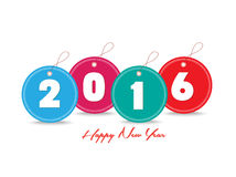 Happy new year 2016 with tag colorful Stock Image