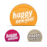 Happy new year tags. Different colored tags are used Royalty Free Stock Photos