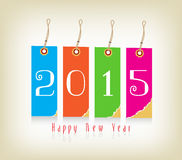 Happy new year with tags. Happy new year background and greeting card design Vector Illustration