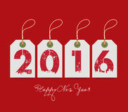 Happy new year with tags. For design Stock Photos
