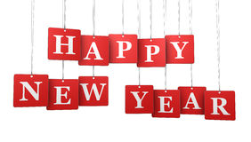 Happy New Year Tags Royalty Free Stock Photo