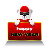 Happy New Year, Teddy Bear, Holidays Stock Images