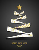 Happy new year template. Abstract christmas tree background. Christmas greeting card. Vector. Happy new year template. Abstract christmas tree background Royalty Free Stock Photo