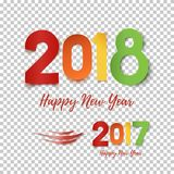 Happy New Year 2017- 2018 template for poster, brochure, greeting card. Royalty Free Stock Photos