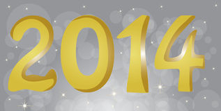 Happy New Year 2014. Text vector illustration