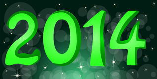 Happy New Year 2014. Text royalty free illustration