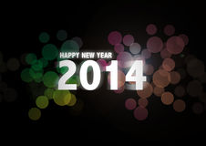 Happy new year text abstract background Royalty Free Stock Images