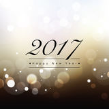 2017 Happy New Year. Text on abstract bokeh background Stock Photo