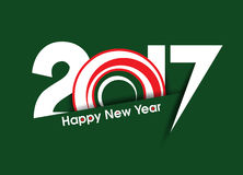 Happy new year 2017 text background with ring. Vector illustration Royalty Free Stock Image