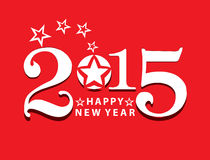 Happy new year text background. Vector illustration Royalty Free Stock Photography