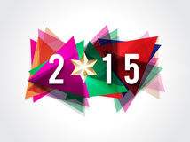 Happy new year 2015 text background. Vector illustration Stock Images